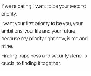 ambitions, couple, and dating image
