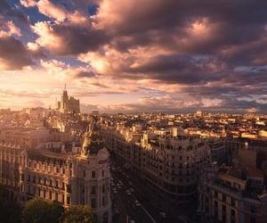 city, sky, and madrid image