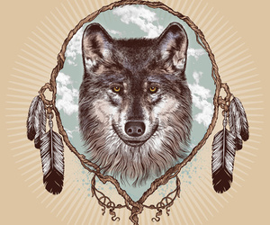 wolf, beautiful, and vintage image