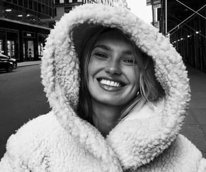 romee strijd, model, and black and white image