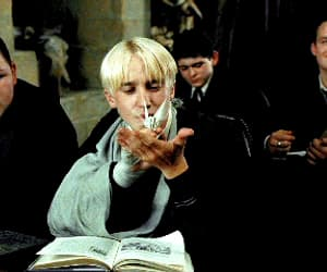 blonde, draco malfoy, and harry potter image