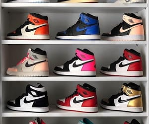 shoes, nike, and sneakers image