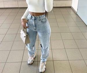 designer handbag, white long sleeve, and mirror selfie image