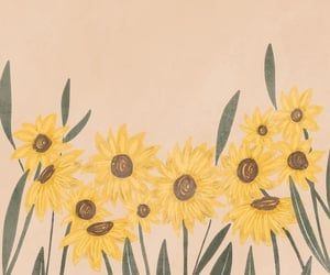 wallpaper, aesthetic, and sunflower image