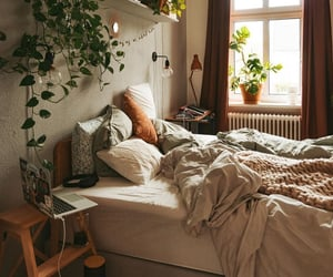 bed, plant, and plants image