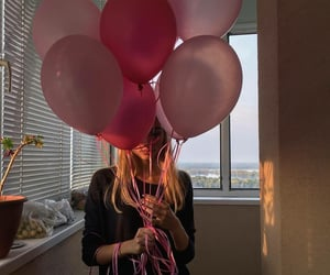 aesthetic, balloons, and girl image