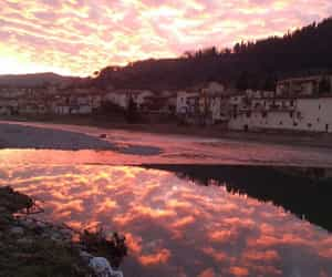 aesthetic, sunsent, and italy image