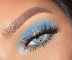 eyeshadow, makeup, and blue image