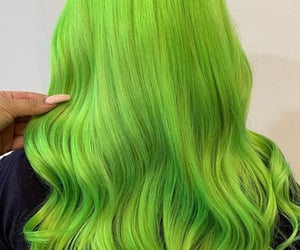 fashion, green, and hairstyles image