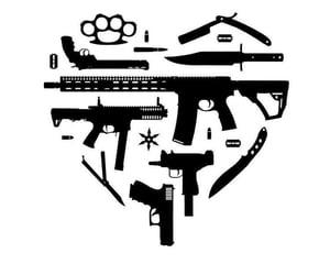 black, control, and gun image