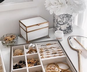 gold, chic, and jewelry image