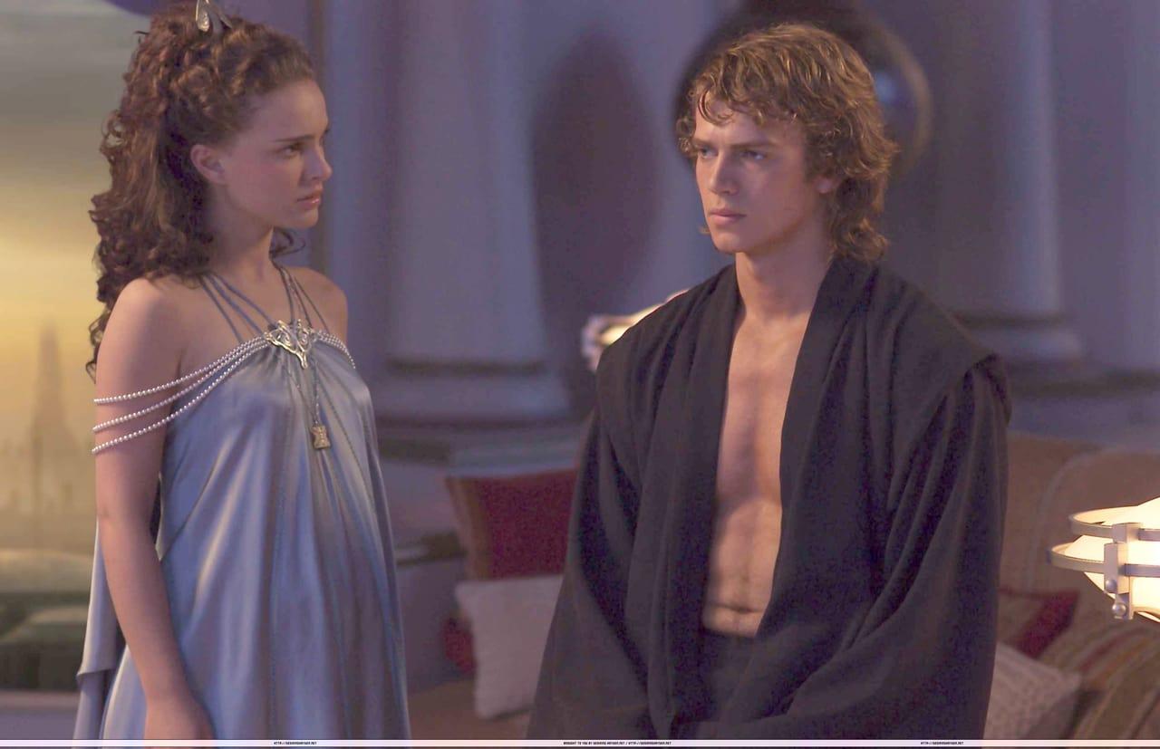 Star Wars Episode Iii Revenge Of The Sith Padme Amidala Natalie Portman Anakin Skywalker Hayden Christensen