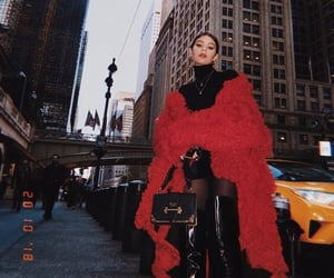 black, red, and fashion image