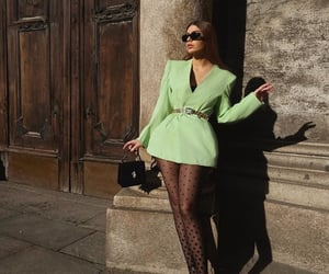 classy, fashion, and green image