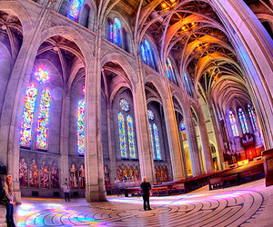 cathedral, colorful, and light image