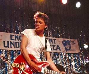 Back to the Future, marty mcfly, and guitar image