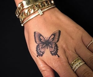butterfly, tattoo, and accessories image
