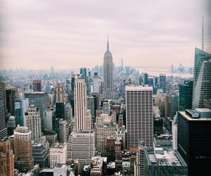empire state building, new york, and view image