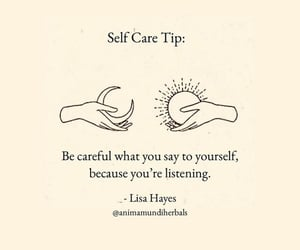 quote, self love, and self care image