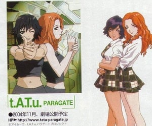 t.A.T.u, anime, and girls image