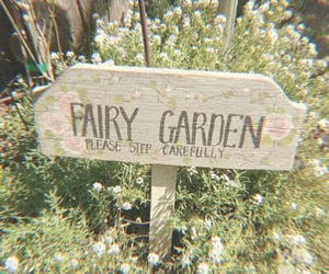 garden, fairy, and flowers image