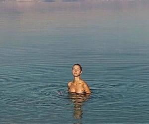 ocean, summer, and swim image