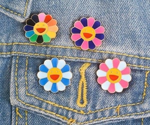 artsy, colorful, and denim image