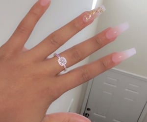 beauty, long nails, and ring image