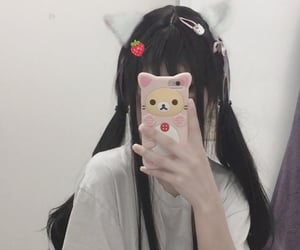 aesthetic, anime, and catgirl image
