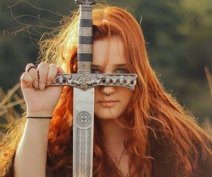 celtic, green, and redhead image