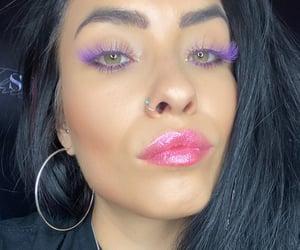 brunette, makeup, and edm image