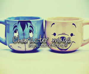 characters, cups, and disney image