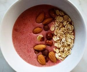 almonds, banana, and bowl image