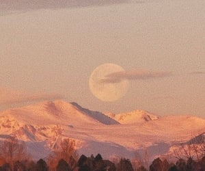 moon, nature, and mountains image