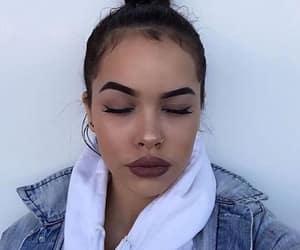 lipstick, eyebrown, and make up image