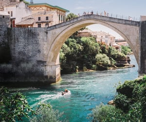 Bosnia, mostar, and bridge image
