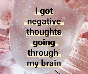 brain, negative, and thoughts image