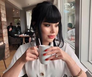 bangs, beauty, and classy image