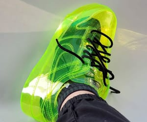 green, neon, and nike image