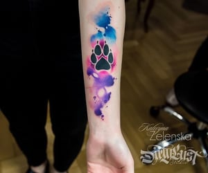 amazing, water colours, and arm image