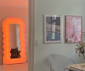 interior, mirror, and orange image