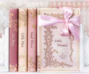 book, little women, and pink image