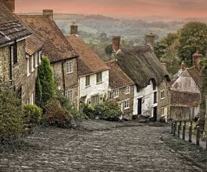cottages, countryside, and dorset image