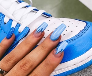acrylics, aesthetic, and baby blue image