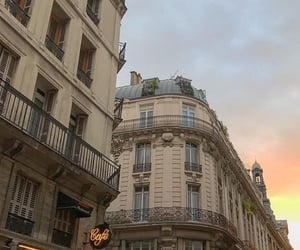 parisian, beige, and sunset image