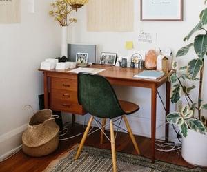 desk, decor, and interior image