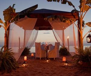 beach, romantic, and luxury image