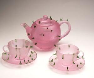 pink and tea set image