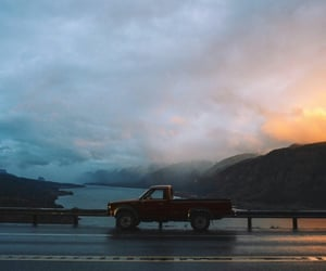 cars, photography, and sunset image
