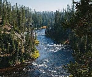 nature, river, and landscape image